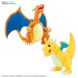 Pokemon Plamo Collection No.43 Select Series Charizard (Battle Ver.) & Dragonite VS Set